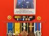 Μετάλλια και διακριτικά ευδόκιμης αποφοίτησης από Σχολές Εκπαιδεύσεως του Σμηνάρχου ε.α. Βασιλείου Μπουραντάνη όπως εκτίθενται πλέον στο Βλαχογιάννειο Μουσείο.