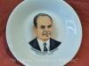 Αναμνηστικό συλλεκτικό πιάτο με την εικόνα του Γεωργίου Παπαδόπουλου